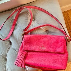 Fushia Pink Kate Spade Cross Body Purse Bag